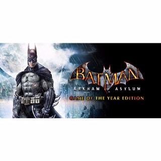 Batman: Arkham Asylum GOTY Edition| PC Steam Key | Automatic & Instant Delivery