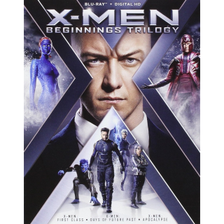 X-men Beginnings Trilogy HD (Includes First Class, Days of Future Past and Apocalypse)
