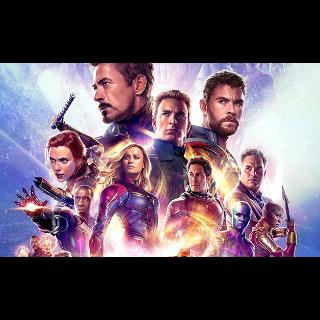 Avengers: Endgame HD: MA, iTunes, Vudu, or FandangoNow