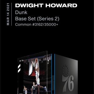 Dwight Howard Base Set (Series 2) #3162/35,000+