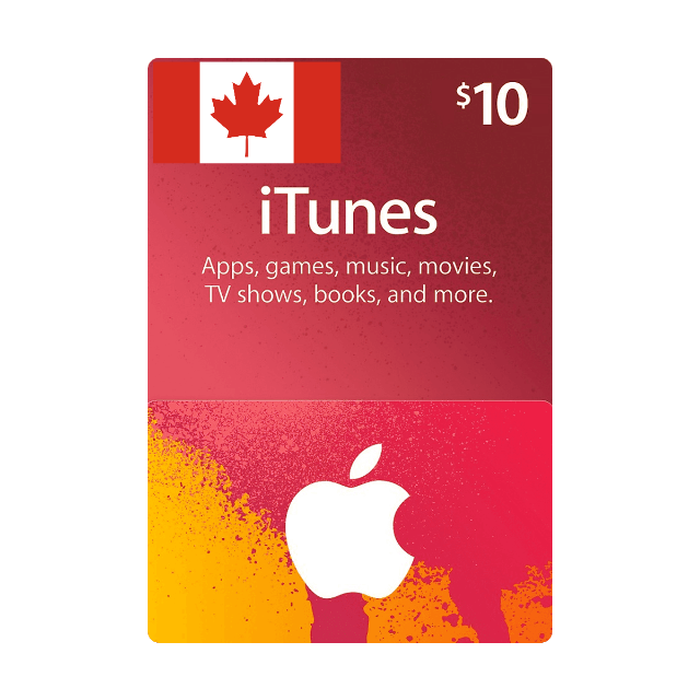 $10 CAD iTunes Gift Card Canada ( INSTANT DELIVERY