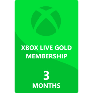 3 Months Xbox Live Gold Membership Global ( INSTANT DELIVERY)