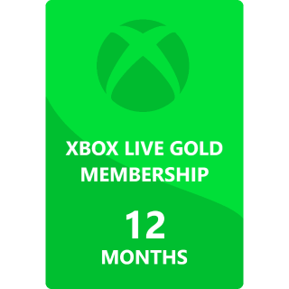 12 Months Xbox Live Gold Membership Global ( INSTANT DELIVERY)