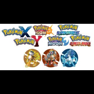 ALL Shiny 6IV EVENT Legendary Beasts Bundle! Entei, Suicune, Raikou! Pokemon Sun, Moon, X , Y, Omega Ruby And Alpha Sapphire!