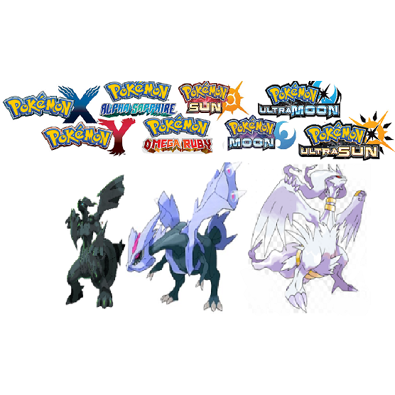 ALL 3 Shiny 6IV Tao Trio Bundle(Zekrom, Reshiram, Kyurem