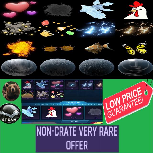 Non-crate Very Rare  100x
