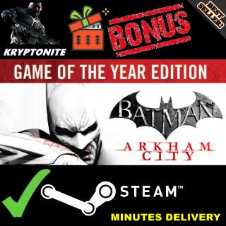 Batman: Arkham City GOTY Edition Steam Key GLOBAL