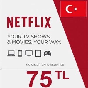 75TL Netflix cards turkey