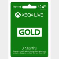 Xbox Live 3 Month Gold [GLOBAL]