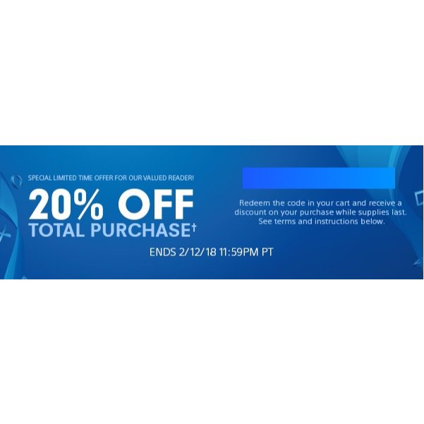 PSN 20% Off Discount Code - PS4 Games - Gameflip