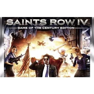 SAINTS ROW IV: GAME OF THE CENTURY EDITION STEAM CD KEY