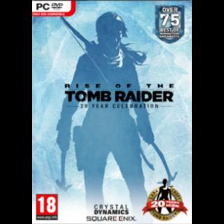 Rise of the Tomb Raider 20 Year Celebration Steam Key Global