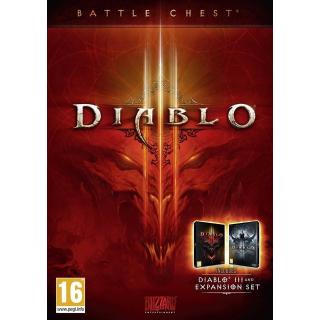 DIABLO III 3 BATTLECHEST BATTLE.NET CD KEY GLOBAL