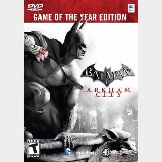 Batman: Arkham City Game Of The Year Edition Steam Key Global