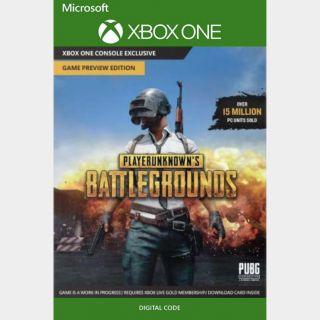 PlayerUnknown's Battlegrounds Xbox One Key Global