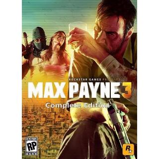 Max Payne 3 + Max Payne 3: Rockstar Pass Steam Key/Code Global
