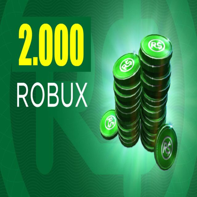 2000 Robux Gift Card 2 000 Robux In Game Items Gameflip