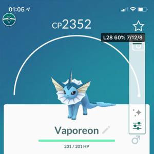 Vaporeon   Vaporeon Pokemon Go
