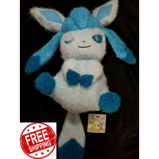 NEW BANPRESTO Pokemon Sun & Moon Plush Doll Relaxation Time Glaceon