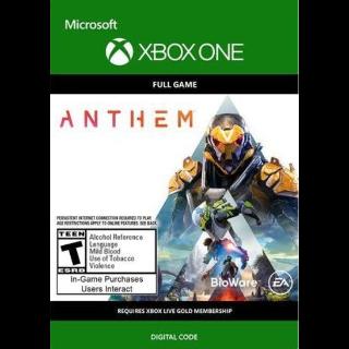 ANTHEM XBOX LIVE