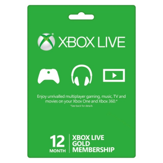 XBOX LIVE GOLD 12 MONTH(use code TUESDAY20 to save 5 dollar)