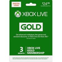 XBOX LIVE GOLD 3 MONTH(use code  MGLMMO25 to save 5 dollar)
