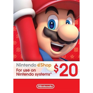 Nintendo 20 USD eShop card (use code TUESDAY20 to save 3 dollar)