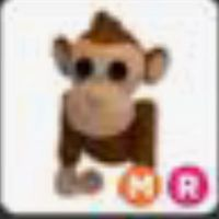 Mega neon ride Monkey (adopt me pet)