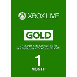 XBOX Live 1 Month Gold Membership Key Global