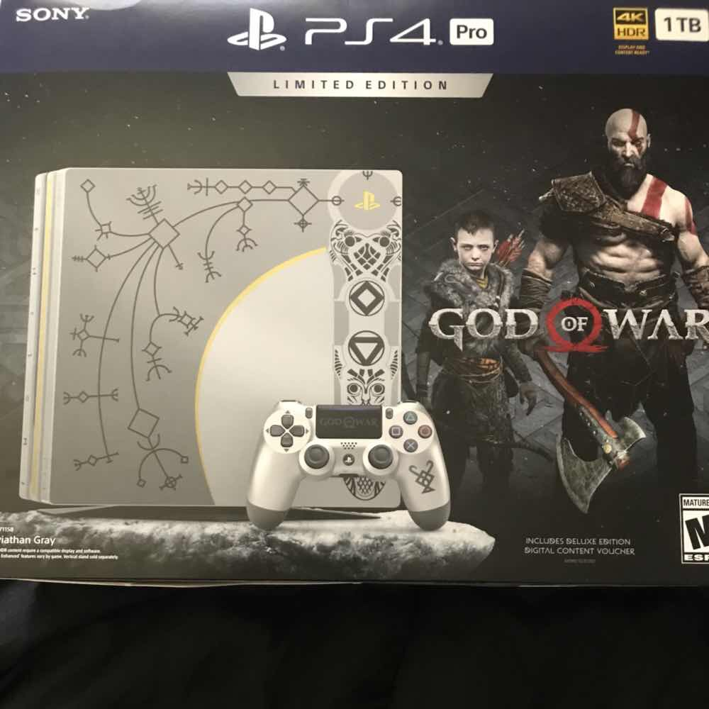 Ps4 Pro Limited Edition God Of War Ps4 Consoles New