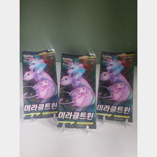 Pokemon Miracle Twin Booster Packs [Korean] x3
