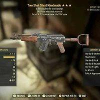 Weapon   Two Shot E/15 Handmade