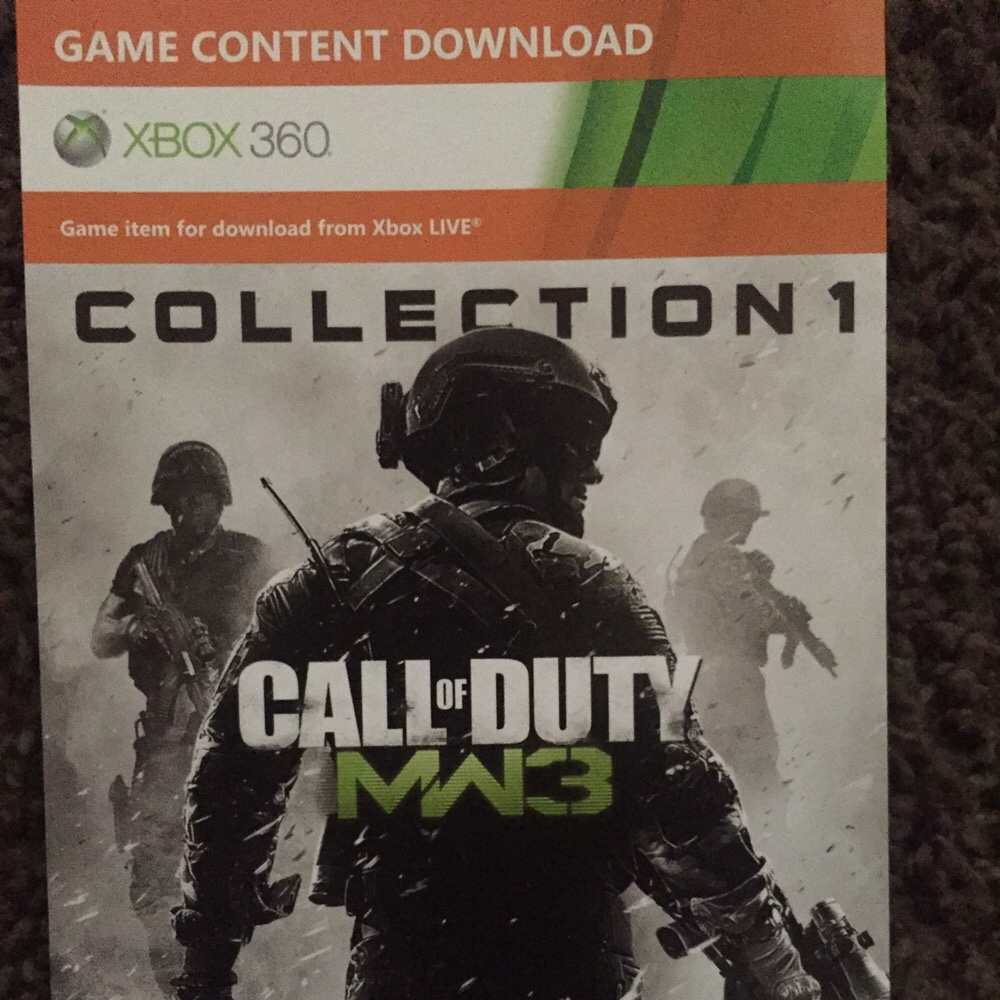 Call Of Duty Modern Warfare 3 Collection 1 Dlc Code Xbox 360