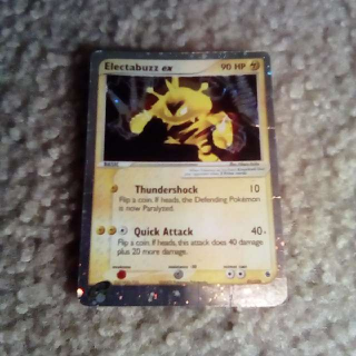 SLIGHTLY WORN ELECTABUZZ EX POKEMON CARD