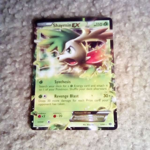 Shaymin Ex Pokemon Card Holographic Trading Cards