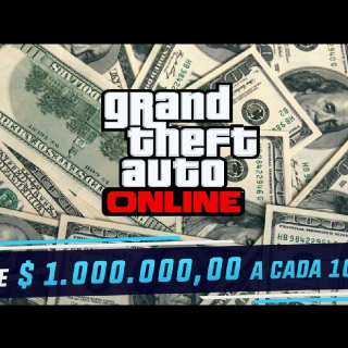 1 Dólar Per Million GTA V Online
