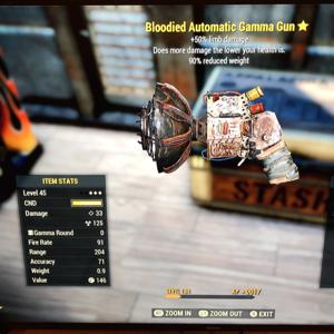 Weapon | Bloodied Automatic Gamma Gun