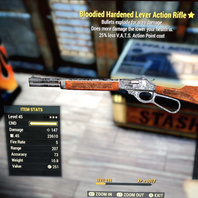 Weapon | Bloodied Vats Reduced Lever Action