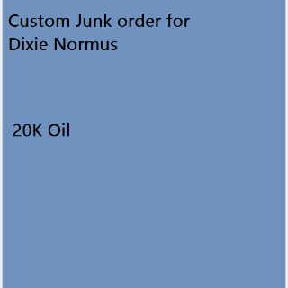 Junk | Order for Dixie Nor