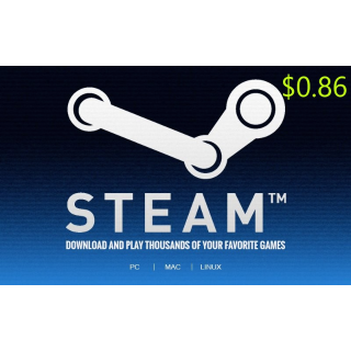 $0.86 Steam Wallet Global Code