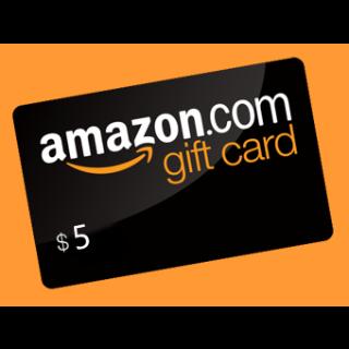 $5.00 Amazon USA