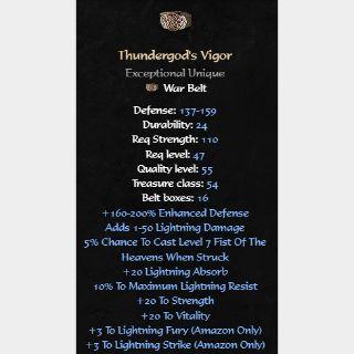 Sets   Thundergod's Vigor