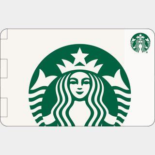 $25.00 Starbucks  physical card