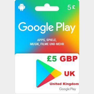 £5.00 GBP Google Play (Instant Delivery)