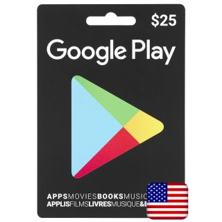 $25.00 Google Play - US - Instant Delivery