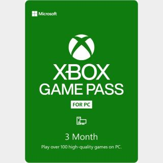 Xbox Game Pass for (PC) 3 Month - Instant Delivery