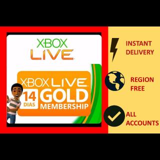 Xbox Live Gold 14 Days Trial Key GLOBAL Region Free