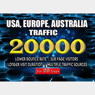 I will bring real usa,uk,aus targeted web traffic