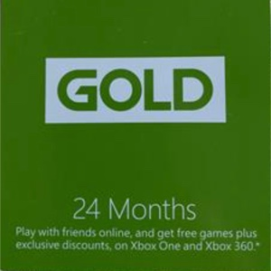 XBOX LIVE GOLD 24 MONTHS MEMBERSHIP FOR XBOX 360 / XBOX ONE