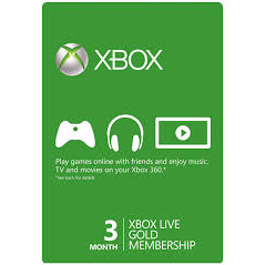 XBOX Live 3 Month Gold Subscription Card US